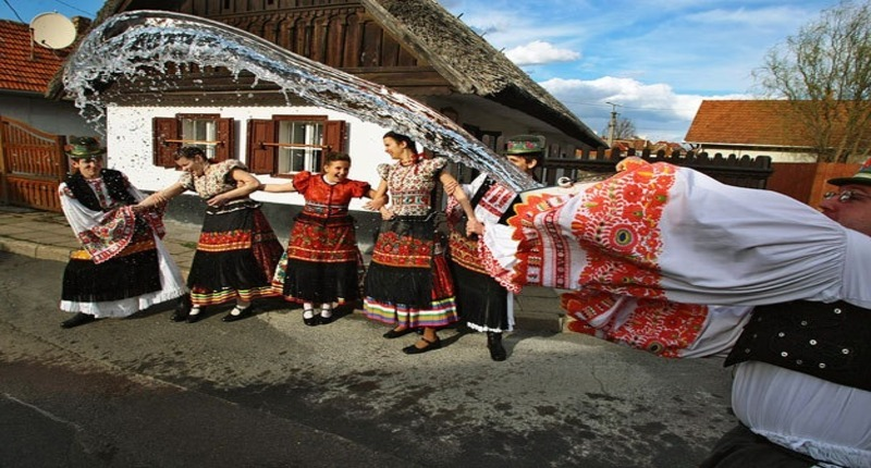 Hungary Easter Monday Sprinkling in Holloko, UNESCO site