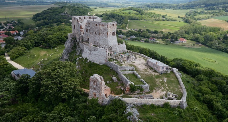 Hungary Castle of Csesznek, Bakony hills-North of Lake Balaton
